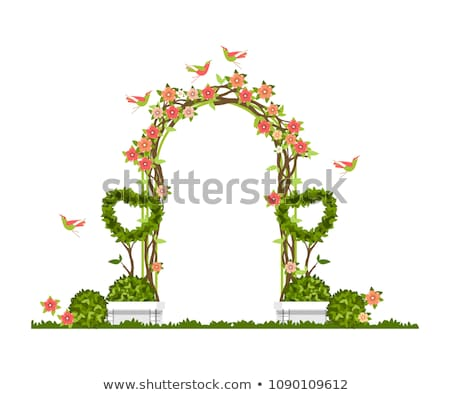 wedding arch and chairs on the grass in the park. Stock photo © ruslanshramko