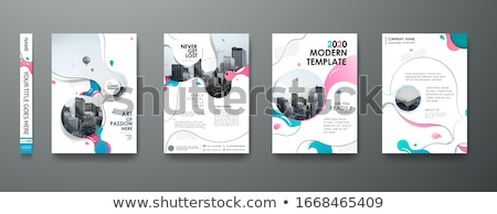 Szett szórólap brosúra magazinok poszter könyvborító Stock fotó © Linetale