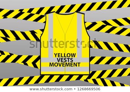 Wektora żółty kamizelka ilustracja mężczyzn sylwetki Zdjęcia stock © sgursozlu