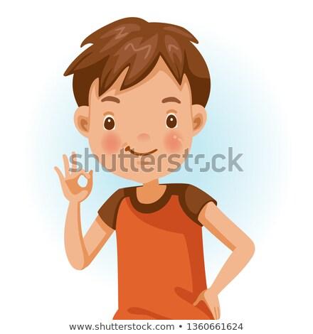 Nino manos ilustración pequeño diferente Foto stock © lenm