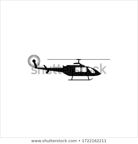 Helikopter zwarte vector icon ontwerp business Stockfoto © blaskorizov