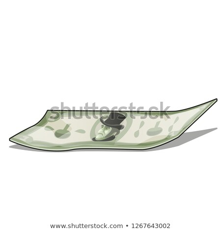Crumpled banknote isolated on white background. Vector cartoon close-up illustration. Stock photo © Lady-Luck