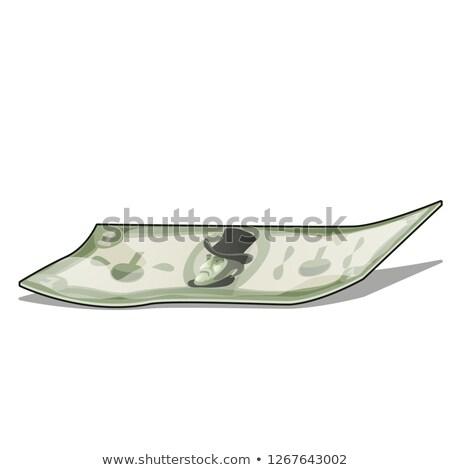 банкнота · изолированный · белый · вектора · Cartoon - Сток-фото © Lady-Luck