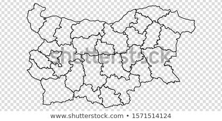 Болгария карта логотип вектора икона дизайна Сток-фото © blaskorizov