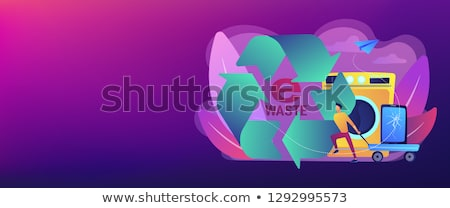 e waste reduction concept banner header stock photo © rastudio