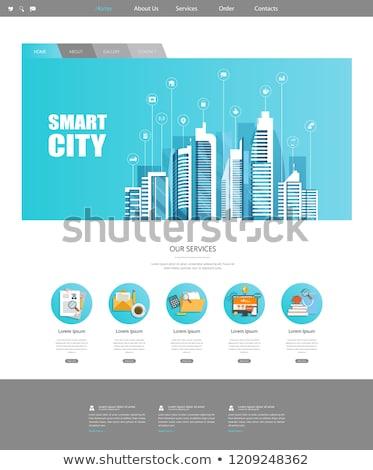 global · Internet · işler · akıllı · şehir · insanlar - stok fotoğraf © rastudio