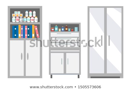 Veterinary Furniture Keeping Pills and Drugs Safe Stock photo © robuart
