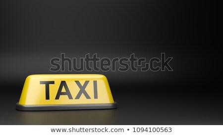 Taxi tetto copia spazio giallo nero illustrazione 3d Foto d'archivio © make