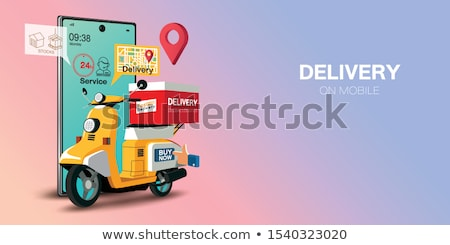 food delivery service concept vector illustration stock photo © rastudio