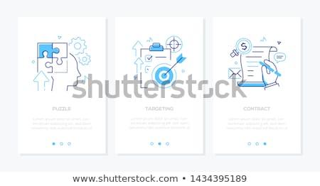 üzlet · technológia · szett · vonal · terv · stílus - stock fotó © Decorwithme