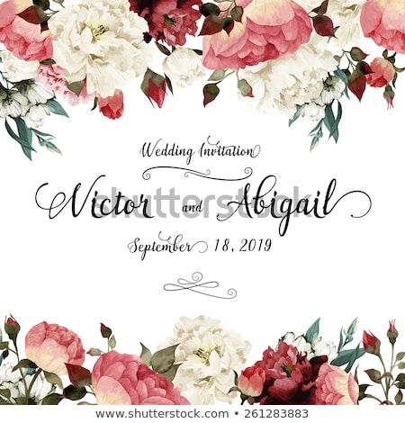 Fashionable Greeting Card Of Wedding Day Vector Stock photo © pikepicture