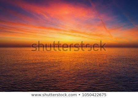 劇的な 空 海 日没 写真 太陽 ストックフォト © AndreyPopov
