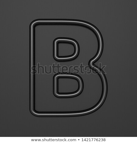 Black outline font Letter B 3D Stock photo © djmilic