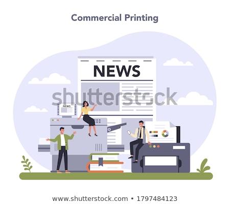 Padrão imprimir eps 10 negócio Foto stock © netkov1