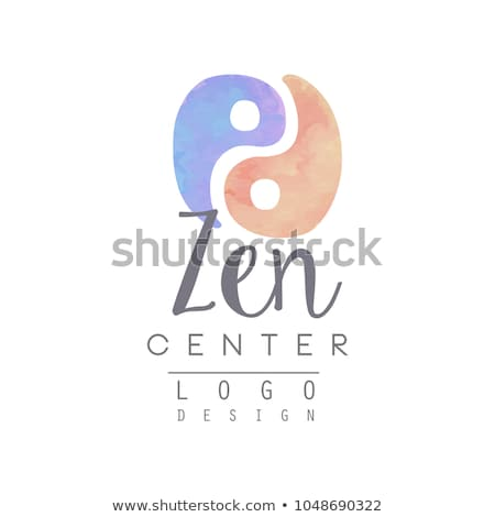 Alternative, Chinese medicine and wellness, yoga, zen meditation concept - vector yin yang icon, log Stock photo © marish