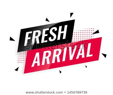 Abstract vers aankomst banner sjabloon winkelen Stockfoto © SArts