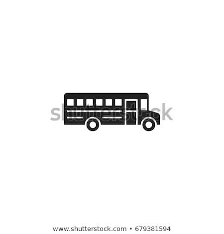 школьный автобус икона цвета лестнице дизайна детей Сток-фото © angelp