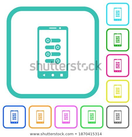 カラフル スイッチ ボタン 実例 ビジネス 壁 ストックフォト © Blue_daemon