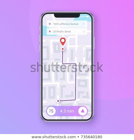 Taksówką app interfejs digital composite działalności telefonu Zdjęcia stock © wavebreak_media
