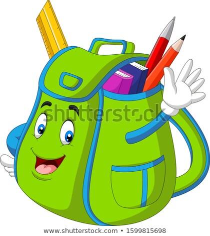 Edebiyat sırt çantası okul vektör kız Stok fotoğraf © robuart