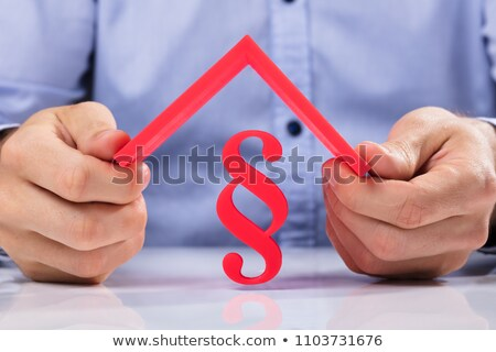 Stockfoto: Huis · model · paragraaf · symbool · witte