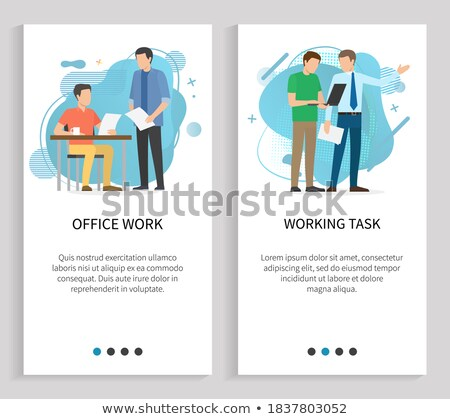 Teamwork Development, Company App Slider Vector Stock photo © robuart