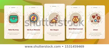 Avontuur communie vector mobiele app Stockfoto © pikepicture