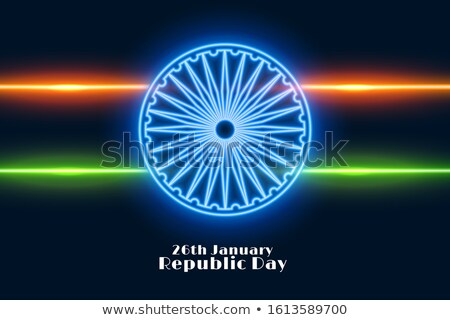 indian republic day background in neon style Stock photo © SArts