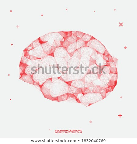 Artificial intelligence, geometric human brain, vector drawing Stock photo © beaubelle