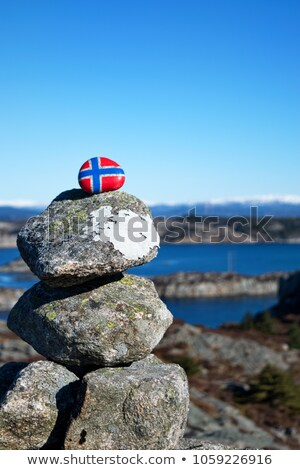Noruega bandeira belo natureza naturalismo paisagem Foto stock © cookelma