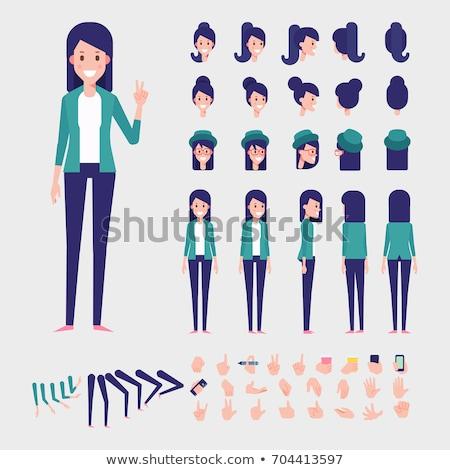 Cartoon Female Character, Woman Template Vector Stock photo © robuart
