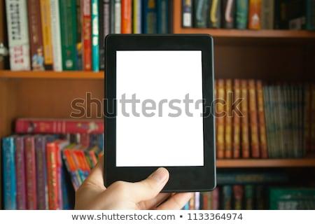 E-kitap okuyucu eller teknoloji bilgi veri Stok fotoğraf © AndreyKr