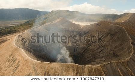 Widok z lotu ptaka krater wulkan parku jawa wyspa Zdjęcia stock © galitskaya