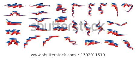 Filipinler bayrak beyaz boya arka plan sanat Stok fotoğraf © butenkow
