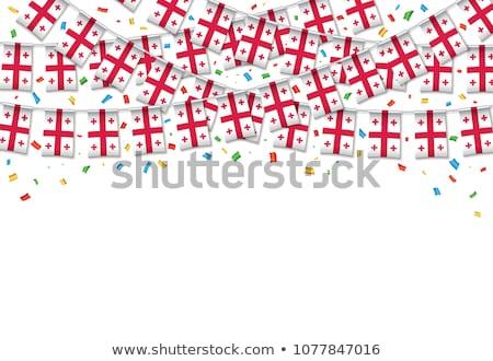 Gruzja banderą biały streszczenie tle podpisania Zdjęcia stock © butenkow