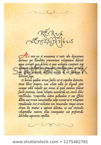 Antigo página manuscrito não sentido velho Foto stock © evgeny89