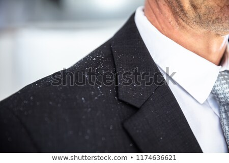 Fallen Dandruff On Man Suit Stock photo © AndreyPopov