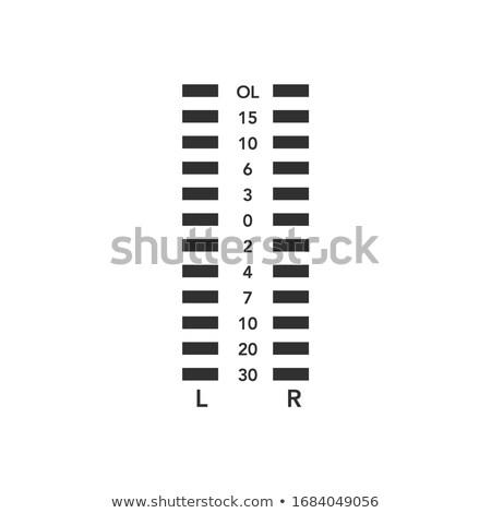 Equalizador nível sobrecarga indicador estoque isolado Foto stock © kyryloff