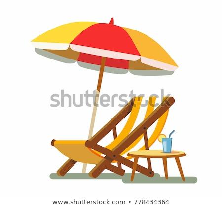 parasol and deckchair Stock photo © vladacanon