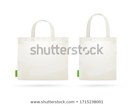 Canvas shopping bag Stock photo © AlessandroZocc