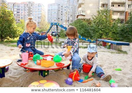 little child plays in sandbox Stock photo © Paha_L