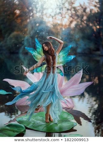 красоту · танцы · женщину · темно · синий · счастливым - Сток-фото © Paha_L