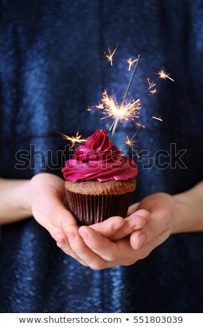 chocolate cream birthday cake for young woman stock photo © darrinhenry