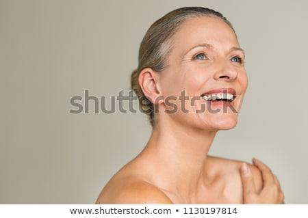 Ritratto bella donna trattamento termale outdoor donne felice Foto d'archivio © get4net