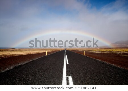 Road and rainbow, low angle view Stock photo © Imagix