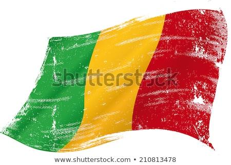 Гранж флаг Мали старые Vintage гранж текстур Сток-фото © HypnoCreative