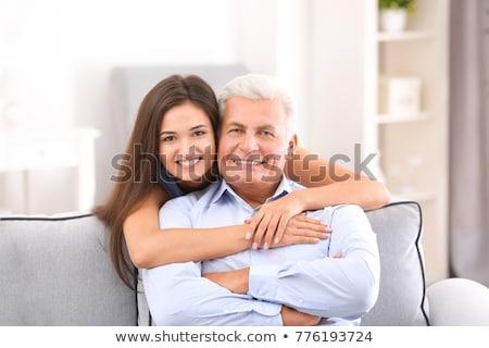 Baba genç kız adam mutlu çocuk Stok fotoğraf © photography33