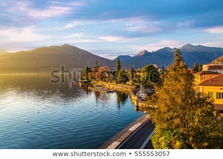 Promenade on Lake Maggiore in Italy. Stock photo © rglinsky77