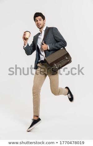 kaukázusi · üzletember · izolált · lövés · ki · névjegy - stock fotó © aremafoto