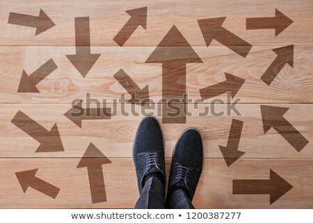 Man with wooden floor Stock photo © photography33